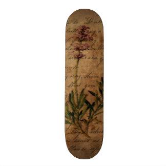 Vintagelavendel på bekymrat handstilpapper old school skateboard bräda 21,6 cm
