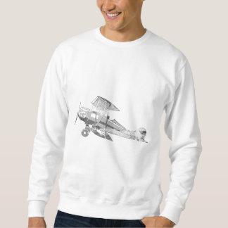 vintageluftflygplan långärmad tröja