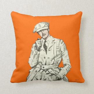 Vintagemanar orangen för mode leda i rör röker att prydnadskuddar