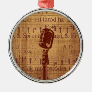 Vintagemikrofon Julgransprydnad Metall
