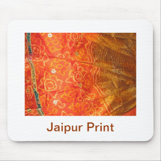 Vintagemode: Jaipur tryckguld med Zari arbete Mus Mattor