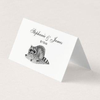 VintageMSked Raccoon Placeringskort