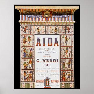 Vintagemusik egyptisk Aida opera av Verdi Print