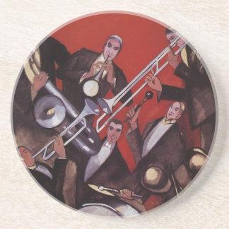 Vintagemusik, för Jazzmusikband för art déco Underlägg
