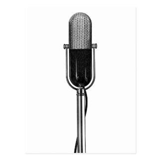 Vintagemusik, gammal Fashoined Retro mikrofon Vykort