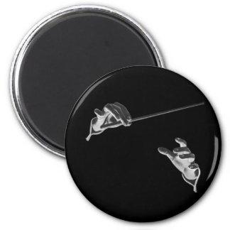 Vintagemusik, ledares händer med en taktpinne magnet rund 5.7 cm