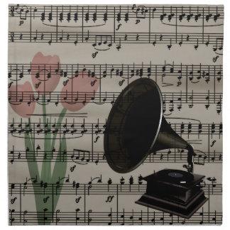 Vintagemusikdesign Tygservett