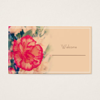 Vintagenejlikabröllop, bordplaceringkort visitkort