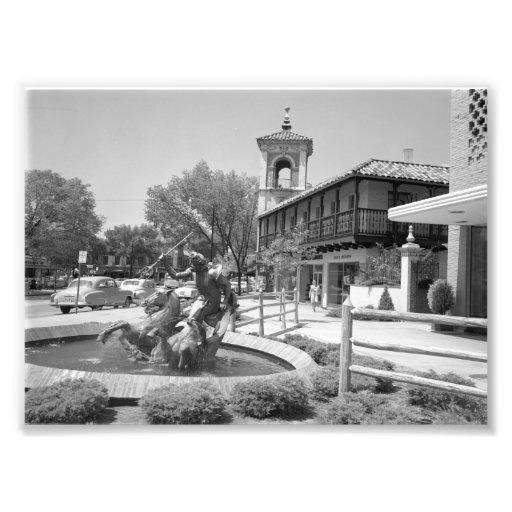 VintageNeptune fontän, Kansas City Fotografiskt Tryck