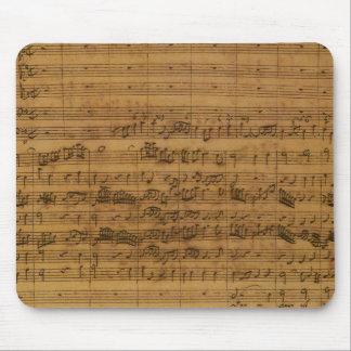 Vintagenotblad av Johann Sebastian Bach Musmatta