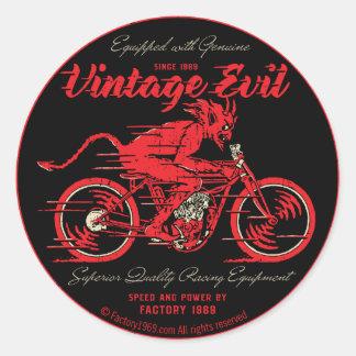 Vintageondska VE018A Runda Klistermärken