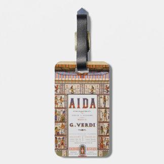 Vintageoperamusik, egyptiska Aida av Verdi Bagagebricka
