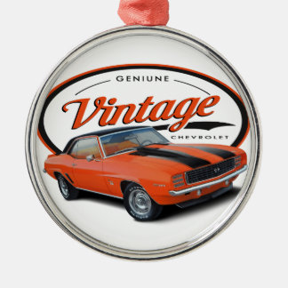 Vintageorange Camaro Julgransprydnad Metall