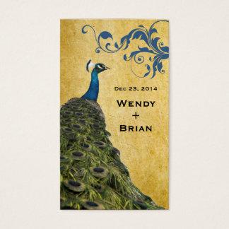Vintagepåfågel Visitkort