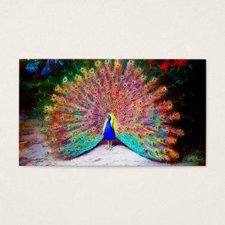 Vintagepåfågelmålning Visitkort