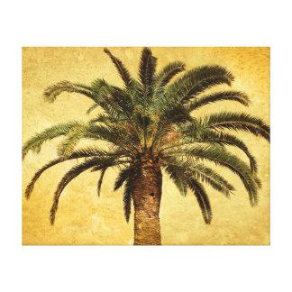 Vintagepalmträd - tropisk skräddarsy mall canvastryck