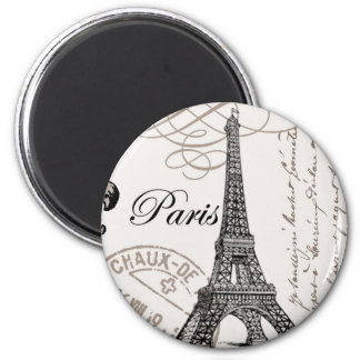 VintageParis… magnet Magnet Rund 5.7 Cm