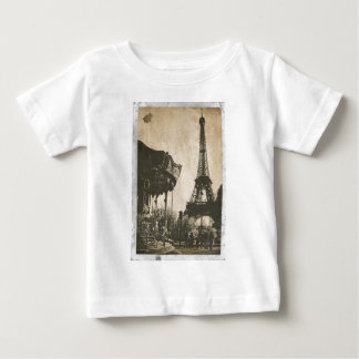 VintageParis vykort, Eiffel torn Tshirts