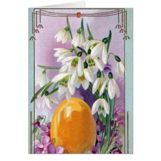 Vintagepåsken blommar kortet hälsningskort