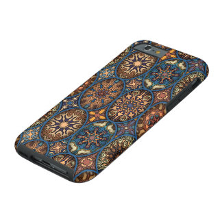 Vintagepatchwork med blom- mandalainslag tough iPhone 6 case