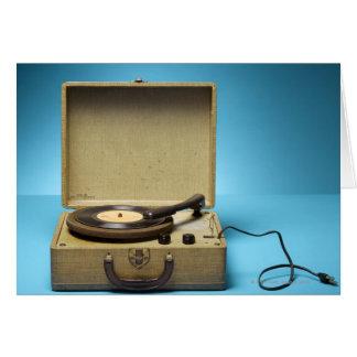 VintagePhonograph Hälsningskort