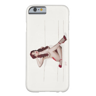Vintagepinupflicka - röd passion barely there iPhone 6 fodral