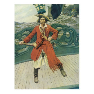 Vintagepirater, kapten Keitt av Howard Pyle Vykort
