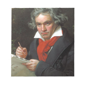 Vintageporträtt av kompositören, Ludwig von Anteckningsblock