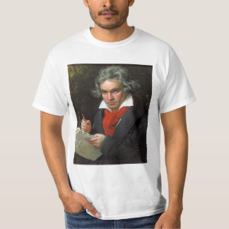 Vintageporträtt av kompositören, Ludwig von T Shirt