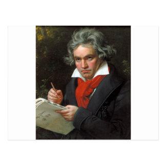 Vintageporträtt av kompositören, Ludwig von Vykort