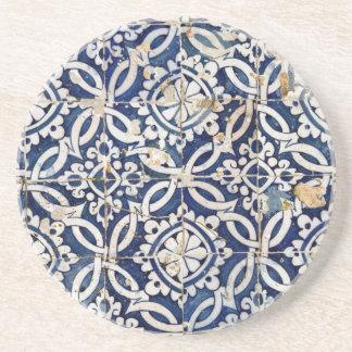 Vintageportugis Azulejo Underlägg Sandsten