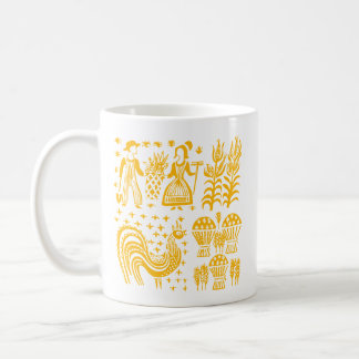VintagePyrex mönster - Butterprint orange Kaffemugg