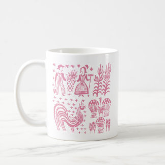 VintagePyrex mönster - Butterprint rosa Kaffemugg