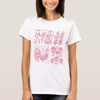VintagePyrex mönster - Butterprint rosa Tröja