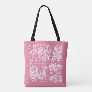 VintagePyrex mönster - Butterprint rosa Tygkasse
