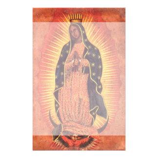 Vintagereligion, jungfruliga Mary, dam av Brevpapper