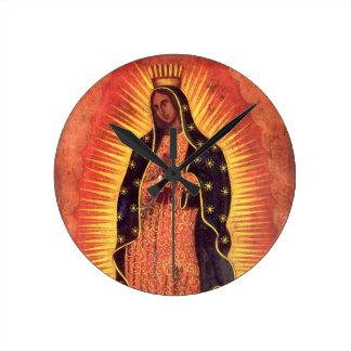 Vintagereligion, jungfruliga Mary, dam av Rund Klocka