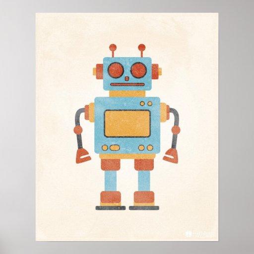 Vintagerobotaffisch Affischer