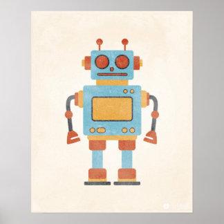 Vintagerobotaffisch Poster