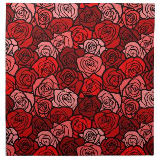 Vintageröd rossvarten skisserar tygservett