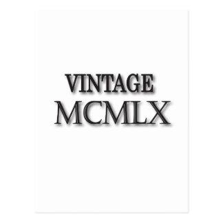 Vintageromare 1960 vykort