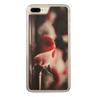 Vintagerosa rosblommor carved iPhone 7 plus skal