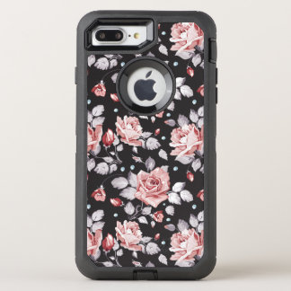 Vintagerosablommönster OtterBox Defender iPhone 7 Plus Skal