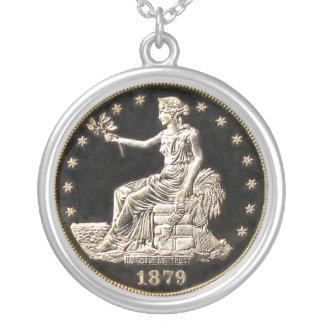 Vintagesällsyntet myntar silverpläterat halsband