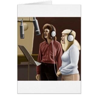 Vintagesångare Hälsningskort