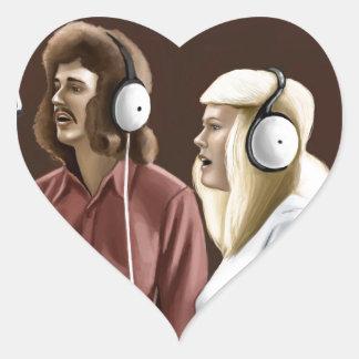 Vintagesångare Hjärtformat Klistermärke