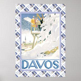 Vintageschweizareaffisch Davos Poster
