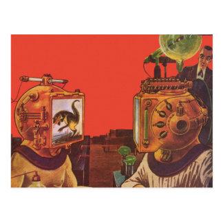 Vintagescience fiction, främmande ångaPunkhjälmar Vykort