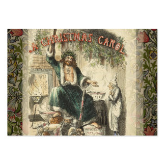 VintageScrooge spöke av julklapp Set Av Breda Visitkort