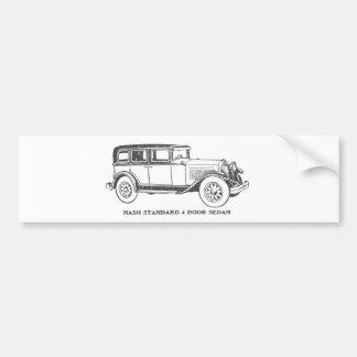 VintageSedanbil Bildekal